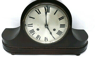Antique H.A.C. Mahoghany Mantel Clock Made in Wurttemberg with the key