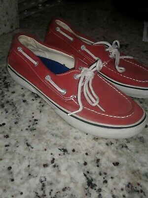 80c1746e9d Sperry Top Sider 9 Men s Red Casual Canvas Boat Shoes Lace Up 9 VERY siders  deck