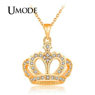 UMODE Gold Crown Chain Trendy Necklace Pendant Statement Jewelry for Women