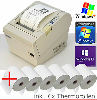 Receipt Printer epson TM-T88 RS-232 + USB Win XP 7 8 10 6xBONROLLEN 88-4