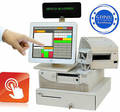 Cash Register System Touchscreen Retail Receipt Printer Scanner Express Checkout
