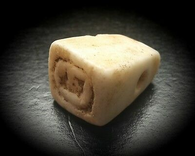 EGYPTIAN CARVED MARBLE STAMP SEAL HIEROGLYPHIC AMULET 3rd TO 1st MILLENNIUM B.C.