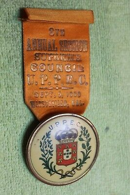 1909-MEDAL-UPPEC-UNION PORTUGUESE PROTECTIVE-8th ANNUAL SESSION-WATSONVILLE,CA