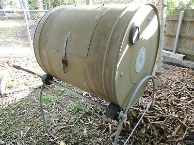 garden rotating compost barrel