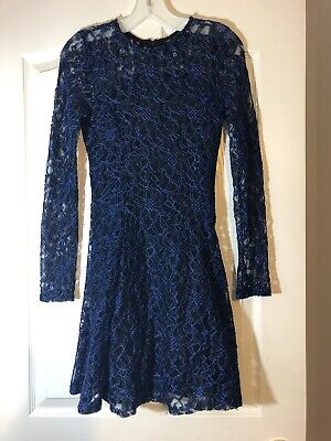 Black And Blue Design Lab Lord Taylor Long Sleeve Lace