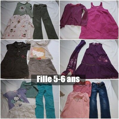Gros lot fille 5-6 ans 15 pièces (A1) NKY Okaidi H&M Vertbaudet