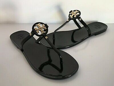 5112e067a TORY BURCH  MINI Miller  Black Jelly Flat Sandals Size 6M -  71.00 ...