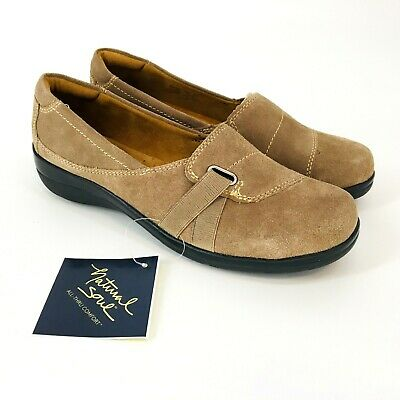 d85ba6705d2 Natural Soul Women Shoes Ilena Size 9 Slip On Taupe Casual Suede Leather  Stretch