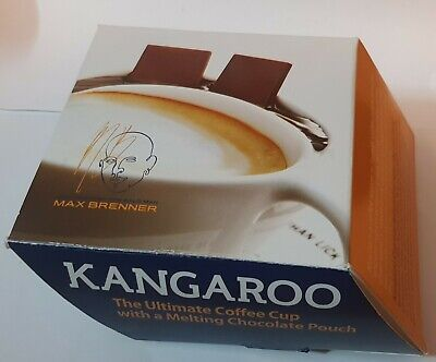 Max Brenner Kangaroo Coffee cup with Mixer and Plate