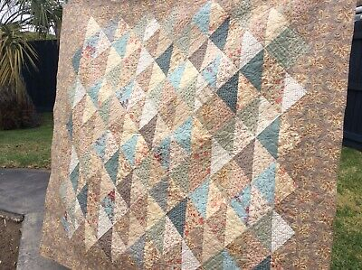 French style handmade patchwork quilt. Beautiful colour theme