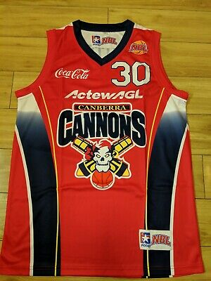 CJ Brutom 2002 Canberra Cannons Replica NBL Jersey - small