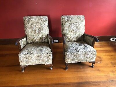 Early Victorian style upholstered chairs