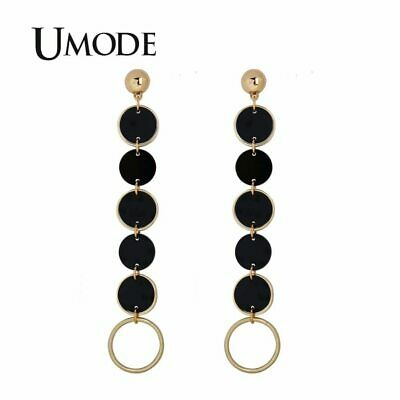 UMODE Creative Women Long Drop Earrings New S925 Silver Needle Round Acrylic