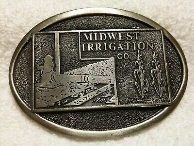 Vintage Adezy 1983 Midwest Irrigation Co. Limited Edition Metal Belt Buckle