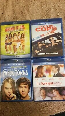 NEW Blu-Ray DVD Lot: Bring It On, Let's Be Cops, Paper Towns, & The Longest Week