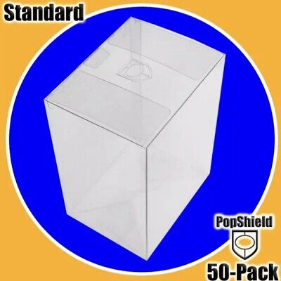 """50 PACK FUNKO POP! Shield! BOX PROTECTOR BOXES 4"""" VINYL FIGURE CRYSTAL CLEAR New"""