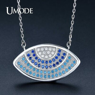 UMODE Vintage Long Colorful Eye Crystal Pendant Necklaces for Women Fashion