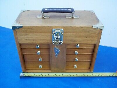 Live Steam Engineers Compact Tools/parts  Lockable Store Case...very Clean.wood.