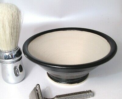 Shaving Bowl Suribachi  Black Hand Made/Crafted - Steve Woodhead Ceramics