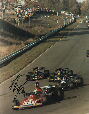 Clay Regazzoni - Swiss Formula 1 Racing Driver - In Person Signed Photograph.