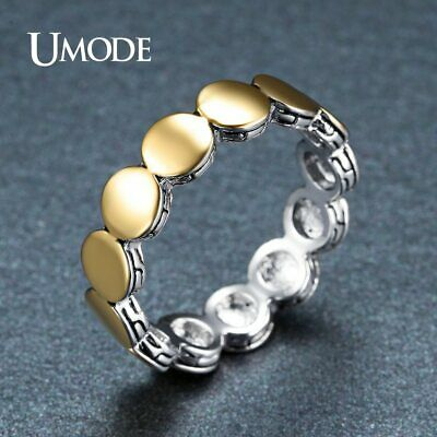 UMODE Vintage Jewelry Charm Multi Round Circle Finger Rings for Women Gold