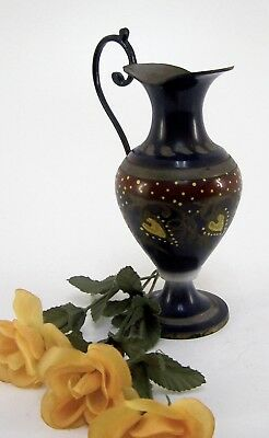 Henkelvase Messing Ramnaih Handmade in India Höhe ca. 20,5 cm
