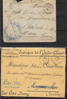 INDO-CHINA 1899/1900 Two Stampless Covers (5096)