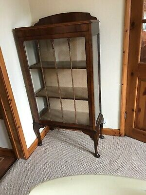 China Cabinet 1930's Glass front and sides.