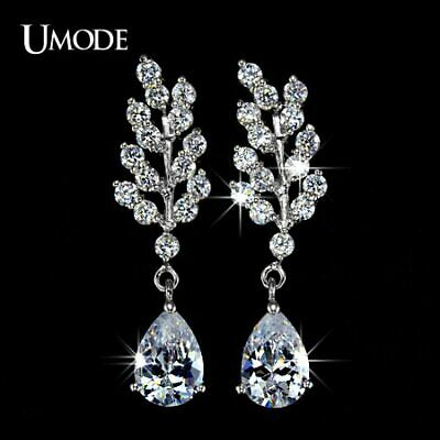 UMODE Plants design AAA+ CZ Cubic Zirconia Dangle Earring Luxury Jewelry for