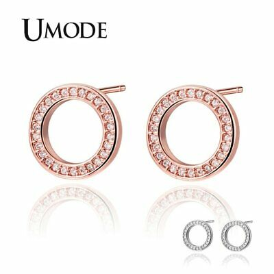 UMODE Fashion Trendy AAA+ Cubic Zirconia Stud Earrings for Women Korean Girls