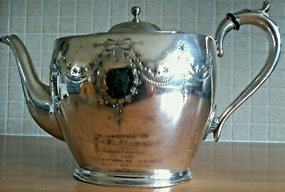 Teapot Pinder Brothers Sheffield England Antique Ornate Engraved Art Deco 1920
