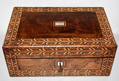 TUNBRIDGE WARE WRITING SLOPE BOX c1850