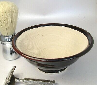 Shaving Bowl Suribachi  Teak Hand Made/Crafted - Steve Woodhead Ceramics