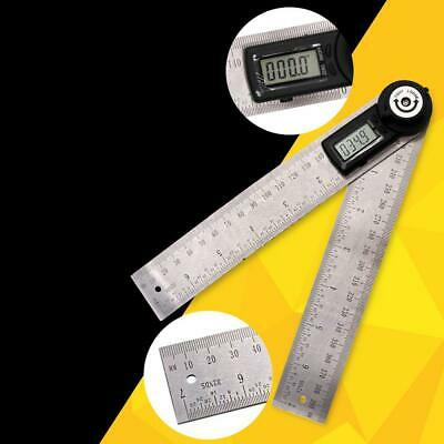 LCD Display Digital Angle Finder Stainless Steel Protractor Angle Ruler LM