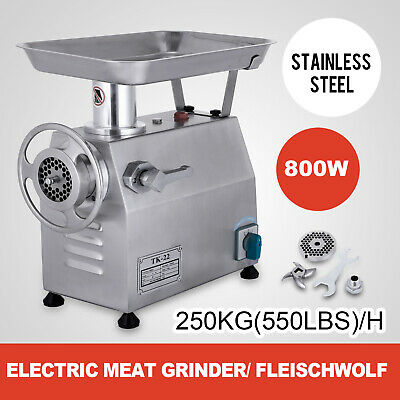 800W Commercial Meat Grinder 550lbs/h Sausage Stuffer Electric Meat Mincer