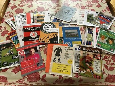 Scottish Non-League programmes 1980's to date - choose from list