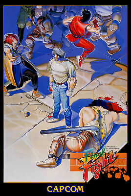 187690 Final Fight Game MAME Arcade NeoGeo Snes PS4 Wii Wall Poster Print UK