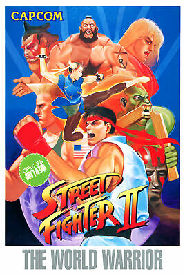 187666 Street Fighter 2 Retro Game MAME Arcade Snes Decor Wall Poster Print UK