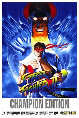 187662 Street Fighter 2 Champion Game mame arcade Decor Wall Poster Print UK