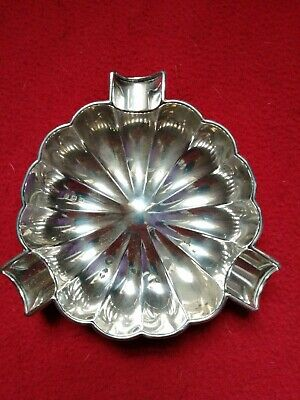 Solid Silver Ashtray Hallmarked Birmingham 1911 By M & C Lister