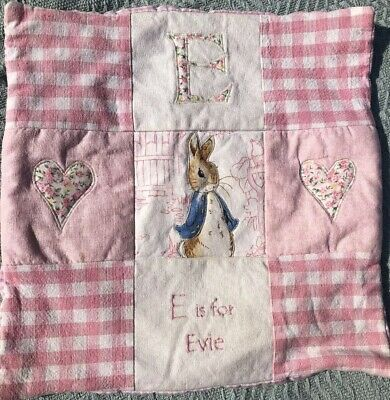 E Is For EVIE Beatrix Potter Cushion Cover Pink Girls