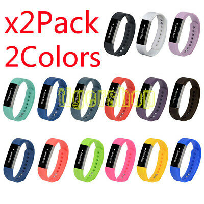 2x Replacement Silicone Band Strap Wristband Bracelet For Fitbit Alta S/L