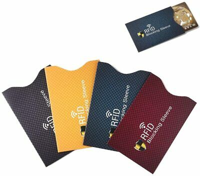 RFID Blocking Sleeve Protector Holder for ID Credit Card Anti Theft Scan 20 pcs