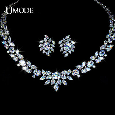 UMODE White Gold Color Poem of Spring Top quality Cubic Zirconia Bridal Jewelry