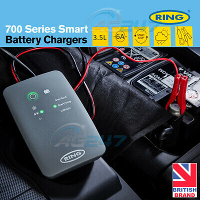 Ring RSC706 12v 6A 8 Stage Start/Stop Car 4x4 Maintenance Smart Battery Charger