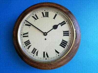 #004 ANTIQUE 1940s SMITHS EMPIRE SCHOOL/OFFICE WALL CLOCK