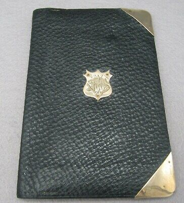 Quality Antique Leather Wallet With Gold Mounts