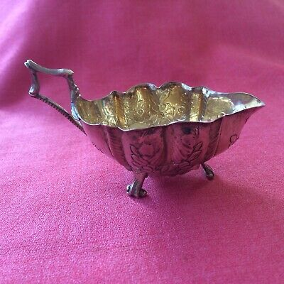 Superb George 111, 1776 London Assay, Silver Sauce Boat, Beautifully Decorated