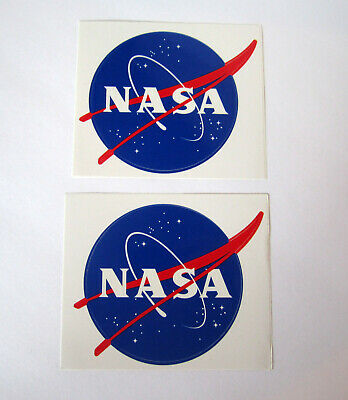 2 Collectible NASA Insignia Logo Space Exploration Lrg Stickers Issued 10/2005