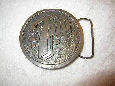 Vintage 7UP Belt Buckle Wyoming Studio Art Works James Lind